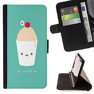 - Ice Cream Summer/ Personalizada del estilo del dise???¡Ào de la PU Caso de encargo del cuero del tir????n del soporte d - Cao - For Samsung Galaxy S5 V SM-G900