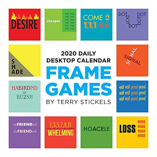 2020 Frame Games Daily Desktop Calendar