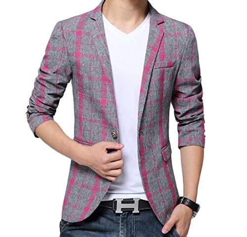 Bolawoo Da Elegante Leisure Blazer Business Bavero Winered Fit Casual Stripe Giacche Uomo Mode 1 Marca Slim Button Di 1r1wxa4