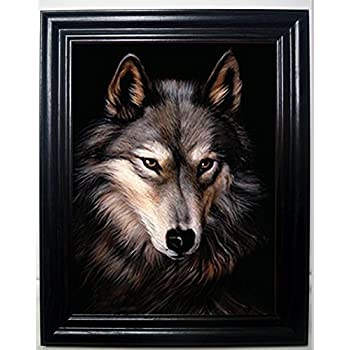 LONE WOLF 3D FRAMED Wall Art----Lenticular Technology Causes The Artwork To Have Depth and Move-HOLOGRAM Style Images-HOLOGRAPHIC Optical Illusions By THOSE FLIPPING PICTURES