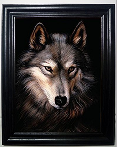 LONE WOLF 3D FRAMED Wall Art----Lenticular Technology Causes The Artwork To Have Depth and Move-HOLOGRAM Style Images-HOLOGRAPHIC Optical Illusions By THOSE FLIPPING PICTURES ()