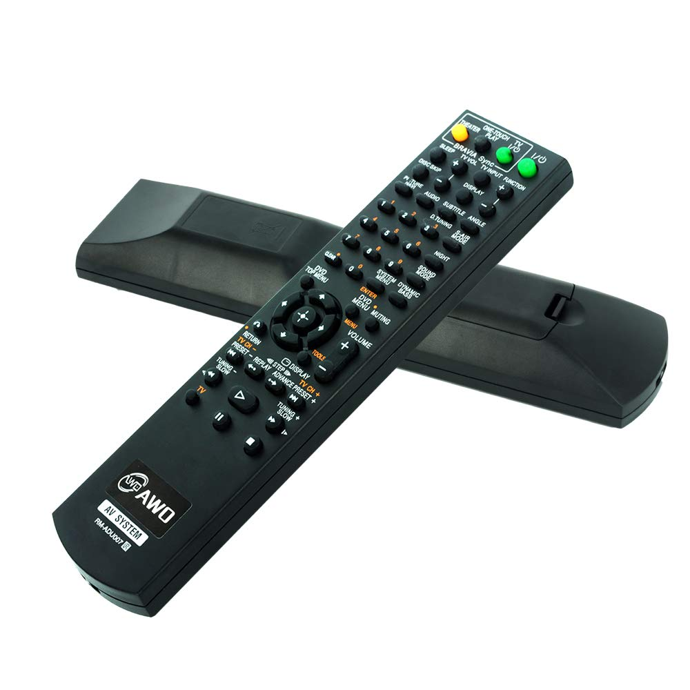 AWO RM-ADU007 AV System Replaced Remote Control for SONY HCDHDX277 HCD-HDX287WC HCD-HDX576 1-480-570-21 DAV-HDZ273 DAV-HDX274 DAV-HDX275 DAV-HDX276WF DAV-HDX277WC DAV-HDX279W DAV-HDX285 DAV-HDX287WC