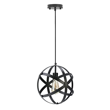 KingSo Industrial Metal Pendant Light Spherical Ceiling Light Globe Hanging Light Fixture for Kitchen Island Dining Table Bedroom Hallway
