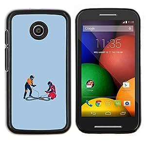 """Be-Star Único Patrón Plástico Duro Fundas Cover Cubre Hard Case Cover Para Motorola Moto E / XT1021 / XT1022 ( Coche de carreras de pista - Gracioso"""" )"""