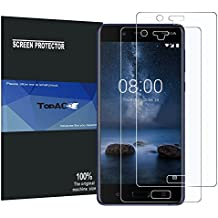 Nokia 8 Screen Protector, TopACE Premium Quality Tempered Glass 0.3mm Film for Nokia 8 (2 Pack)