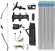 NC93 Archery Takedown Recurve Bow Package for Outdoors and Indoors Hunting Shooting 20/30lbs 4colors Selected