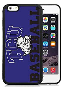 Fashion And Unique iPhone 6 Cover Case NCAA Big 12 Conference Big12 Football TCU Horned Frogs 5 Protective Cell Phone Hardshell Cover Case For iPhone 6 4.7 Inch TPU Black Phone Case