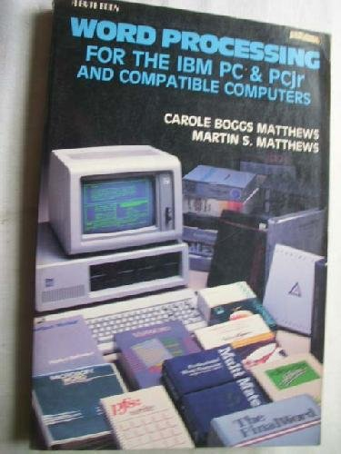 Word Processing for the IBM PC and Pcjr, and Compatible for sale  Delivered anywhere in Canada