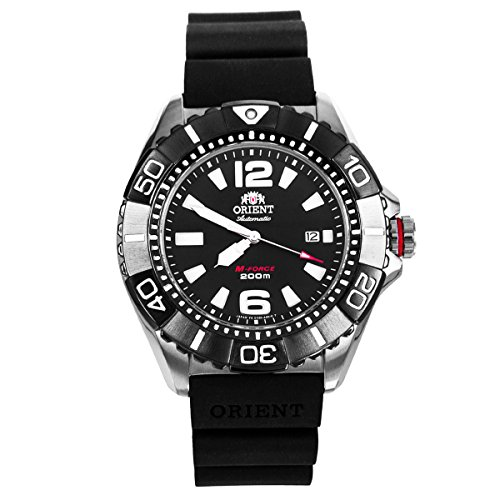 Orient 47mm M-Force 22-Jewel Automatic Titanium Dive Watch with Sapphire Crystal DV01003B ()