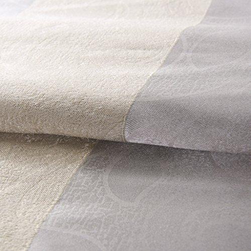 "IYUEGO Modern Minimalist Stripe Pattern Jacquard Blackout Grommet Top Curtain With Multi Size Custom 50\"" W x 96\"" L (Set Of 1)"