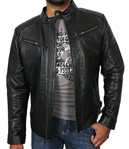 Laverapelle Men's Black Genuine Lambskin Leather Jacket - 1510025 - Extra Large