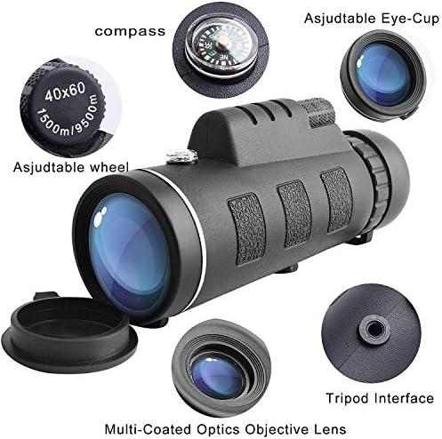 Telescopio monocular de Alta Potencia monoculares Impermeables con Clip para tel/éfono y tr/ípode para tel/éfono Celular para observaci/ón de Aves