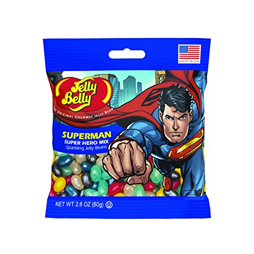 Jelly Belly Superman Jelly Beans, Super Hero Mix, 2.8-oz, 12