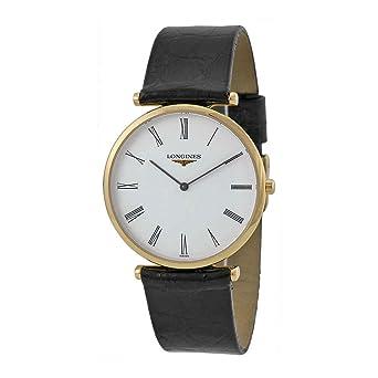 check-out 0f908 e1e55 Longines La Grande Classique Homme 33mm Noir Cuir Bracelet ...