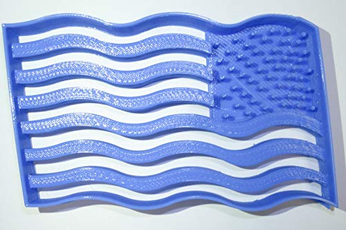 WAVING AMERICAN FLAG USA UNITED STATES STARS STRIPES OLD GLORY SPECIAL OCCASION COOKIE CUTTER BAKING TOOL 3D PRINTED MADE IN USA PR902