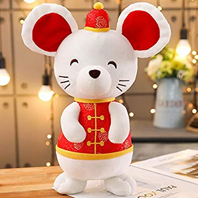 HongHong Toddler Toys 2020 Mouse Year Mascot Rat Plush Soft Doll Plush Stuffed Doll Stuffed Animal Plush Gift Sofa Decor 35cm: Home & Kitchen