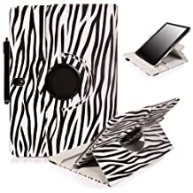 E LV 360 rotating Lightweight Case Cover stand for Samsung Galaxy Tab Pro 10.1 with 1 Stylus (Zebra Black)