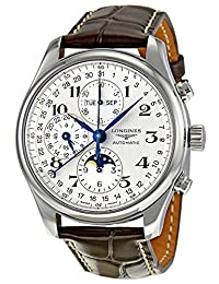 Longines Master Complications Automatic Chronograph Moonphase Stainless Steel Mens Watch L2.773.4.78.3