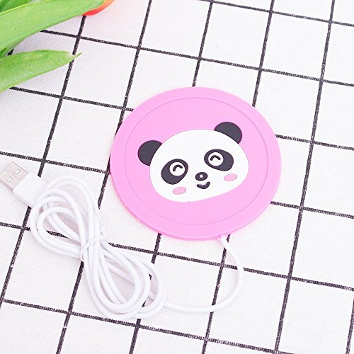 Calentador Taza USB Mantiene Café Té Bebida Caliente (Panda Rosa)