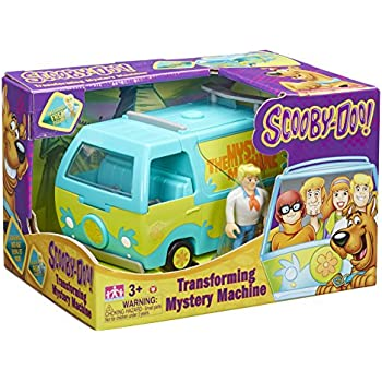 Scooby Doo Transforming Playset Get A Clue mystery machine w// 4 figures w//10,000
