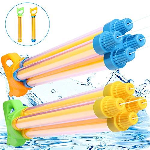 (TNELTUEB Water Guns Super Water Blaster Soaker Gun Summer Fun Outdoor Swimming Pool Games Toys for Boys Girls Adults (2 Pack ) )