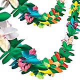 FuturePlusX Tissue Flower Garland, 2 Pack 9 Feet Long Tropical Paper Flower Leaves Garland Banner Colorful Party Banner for Party Decorations Birthdays Festival Event Supplies: more info