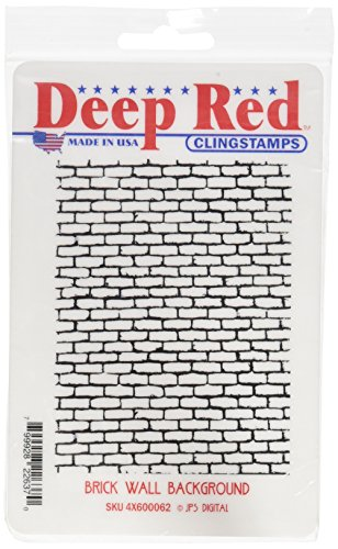 Deep Red Cling Stamp Brick Background product image