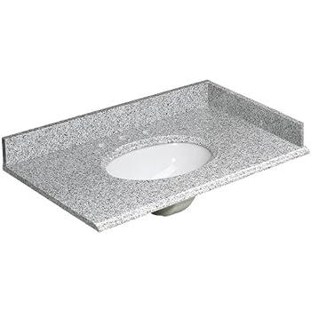 Foremost HG37228RG Heritage 37-Inch Granite Vanity Top, Rushmore Grey