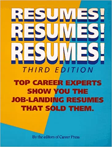 resumes resumes resumes career press distributors