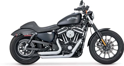Vance & Hines 14-19 Harley XL883N Shortshots Staggered Exhaust (Chrome)