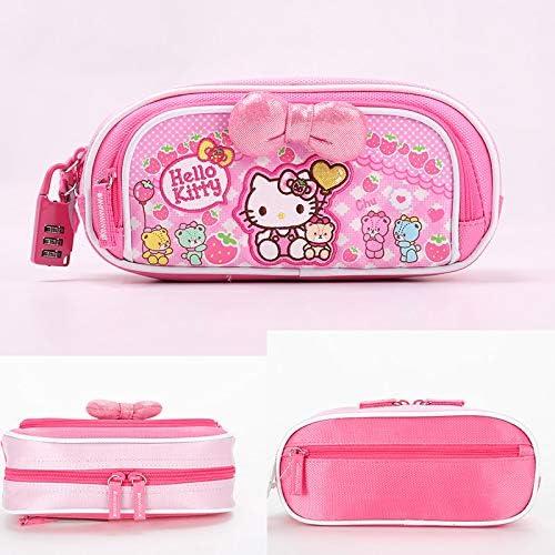 Estuche para lápices con cierre de contraseña para la escuela primaria, para niños, color 559 password lock pen bag pink Hello Kitty: Amazon.es: Oficina y papelería