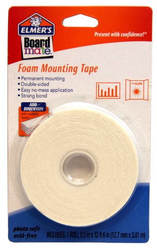 Adhesive Board Poster (ELMERS Board Mate Foam Mounting Tape, 0.5 X 150