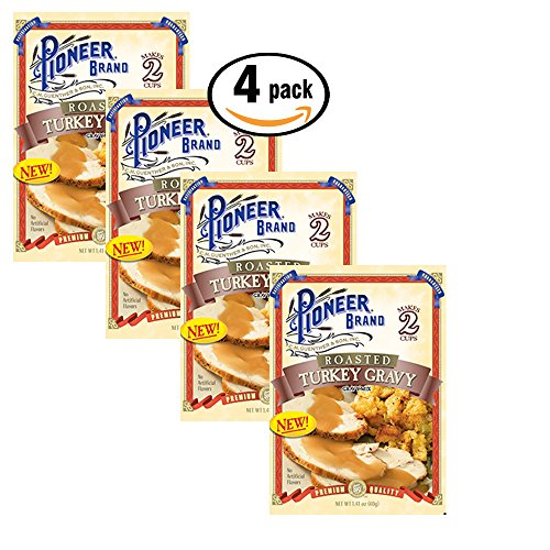 Pack of 4, Pioneer Brand Roasted Turkey Gravy Mix, 1.41 oz each