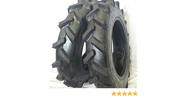 2 TIRES + 2 TUBES 6.50-16 8 PLY ROAD WARRIOR KNK33 3-Rib Farm Tractor Tires 6.50x16