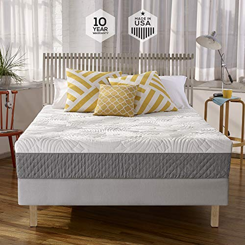 (Sleep Innovations Shea 10-inch Memory Foam Mattress, Bed in a Box, Made in the USA, 10-Year Warranty - Queen Size)