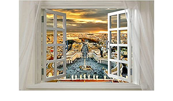Window Onto ROME Scenic POSTER 24X36 Historic CATHOLIC Prized COLLECTORS