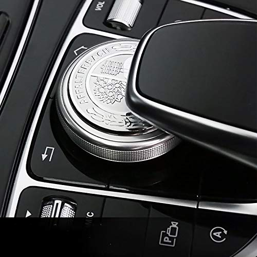 US85 Direct New Mercedes-Benz C-Class E-Class GLC GLE GLS S-Class Interior Multimedia Control Emblem Decal Badge Decoration Logo Gift (Aluminum AMG)