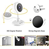 Wireless Security Camera, MiSafes WiFi Baby Pet Video Monitors 1280x720p HD Remote Home Surveillance Indoor IP Cameras with 2 Way Audio Talk for iPhone iPad Android Samsung Sony LG (White)