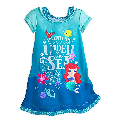 Price comparison product image Disney Ariel Nightshirt for Girls Size 5 / 6 Blue