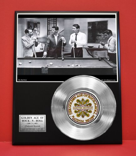 Rat Pack LTD Edition Non Riaa Platinum Record Display - Award Quality Music Memorabilia Wall Art - from Gold Record Outlet