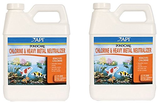 (2 Pack) Pondcare Chlorine and Heavy Metal Neutralizer,32 Ounce each (Pondcare Chlorine Neutralizer)