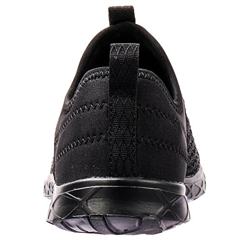 Aleader Mens Slip-on Athletic Water Shoes Black/Blk 8 D(M) US