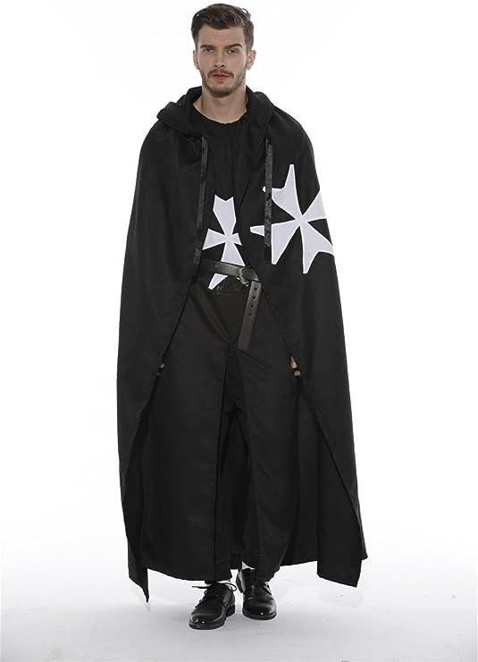 dream cosplay Disfraz de Templario Medieval Cruz de Malta (Medium ...
