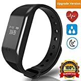 Helonge Fitness Tracker, Sports Activity Tracker, Waterproof Smart Wrist Watch with Heart Rate Monitor, Sleep Monitor, Sedentary Reminder etc, Multi Scene Control, Customized your Lifestyle (Black)