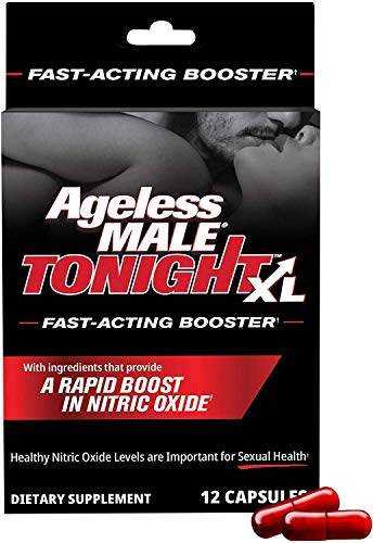 Ageless Male Tonight XL – Performance and Nitric Oxide Booster Supplement by New Vitality. Male Enhancement Pills. Safe and Effective Ingredients. 12 Ct Capsules