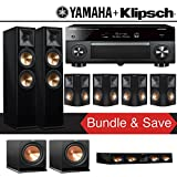 Klipsch RP-280F 7.2-Ch Reference Premiere Home Theater System (Piano Black) with Yamaha AVENTAGE RX-A3070BL 11.2-Channel Network A/V Receiver
