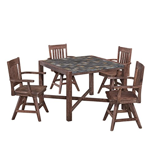 51WMR7ErJfL - Home Styles 5601-375 Morocco Dining Set with Square Table and Four Swivel Chairs (5 Piece)