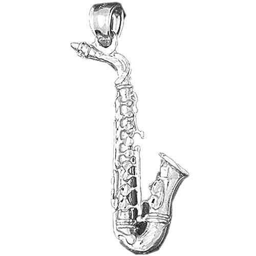 Sterling Silver 3D Saxophone Pendant