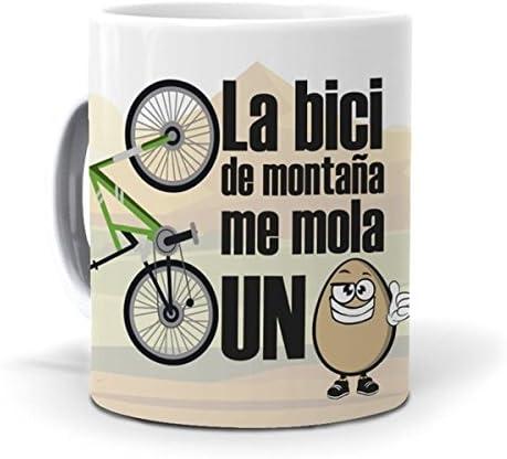 mundohuevo Taza La Bici de montaña me Mola un Huevo Version