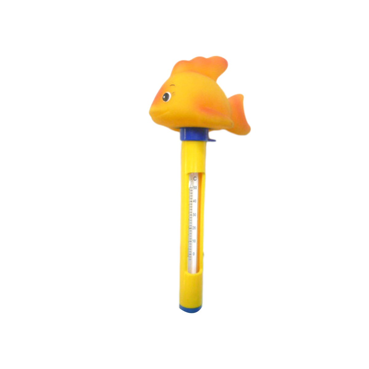 OUNONA Cute Animal Floating Pool Thermometer with String Indoor Outdoor Use for Swimming Pools Aquariums Hot Tub Spa Jacuzzi (Yellow)